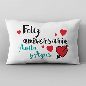 Almohadón personalizado 50x30 Feliz aniversario