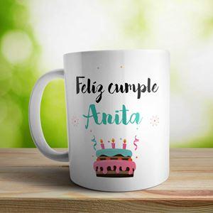 Taza cerámica personalizada Cumple torta