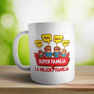 Taza cerámica La mejor familia 2 nenes
