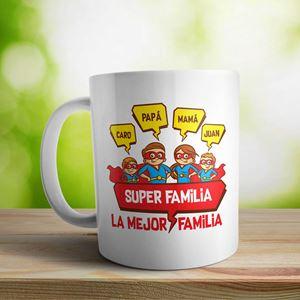 Taza cerámica La mejor familia nene nena