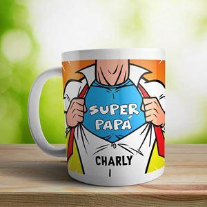 Taza cerámica personalizada Super papá