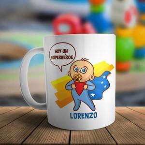 Taza plástico personalizada Niño super heroe