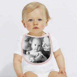 Babero rosa personalizado con foto