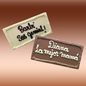 Tableta chocolate  personalizado con frase