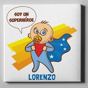 Lienzo personalizado 50x50 Niño Super Heroe