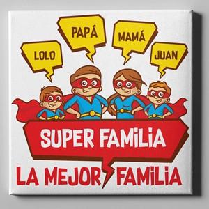 Lienzo personalizado 50x50 La mejor familia