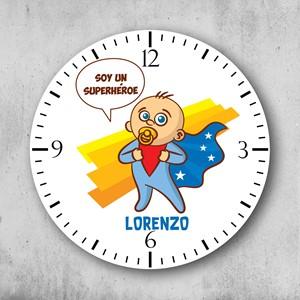 Reloj circular personalizado Niño Super Heroe