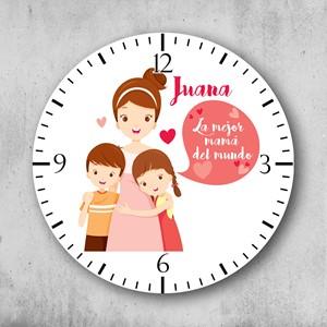 Reloj circular La mejor mamá del mundo