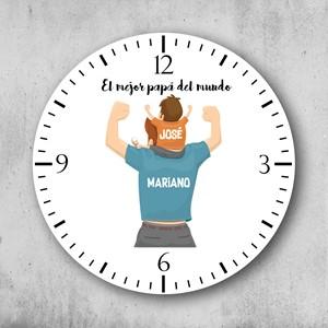 Reloj circular El mejor papá con nene
