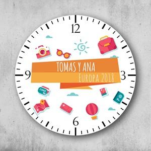 Reloj circular personalizado Viajeros