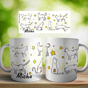 Taza cerámica personalizada Gatos