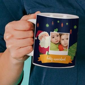 Taza cerámica personalizada Navidad Papá Noel