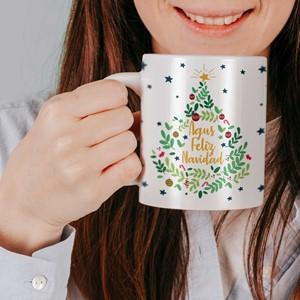 Taza cerámica personalizada Árbol Navidad