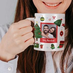 Taza cerámica personalizada Objetos Navidad